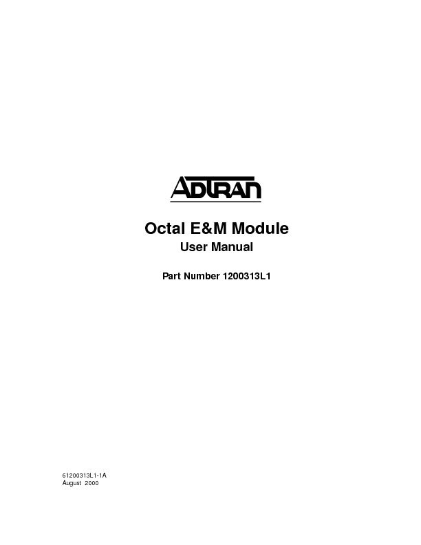 Adtran ATLAS 550 Octal EandM Module User Manual.pdf