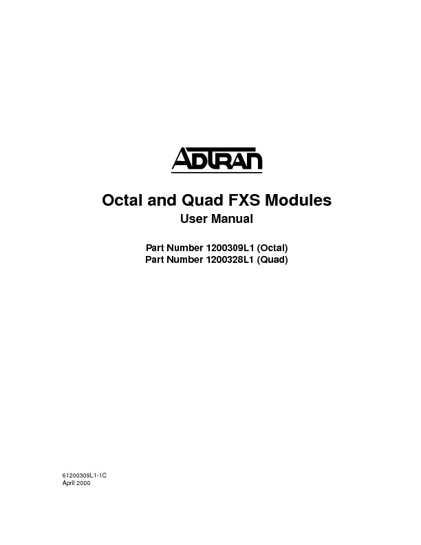Adtran ATLAS 550 Octal FXS Module User Manual.pdf