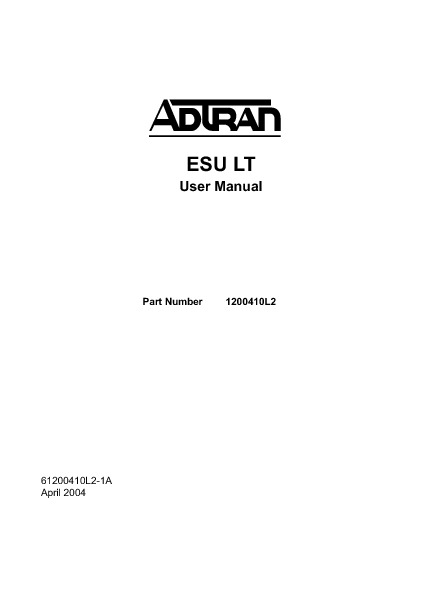 Adtran ESU LT User Manual.pdf