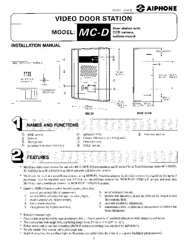 Aiphone MC-D Instructions.pdf