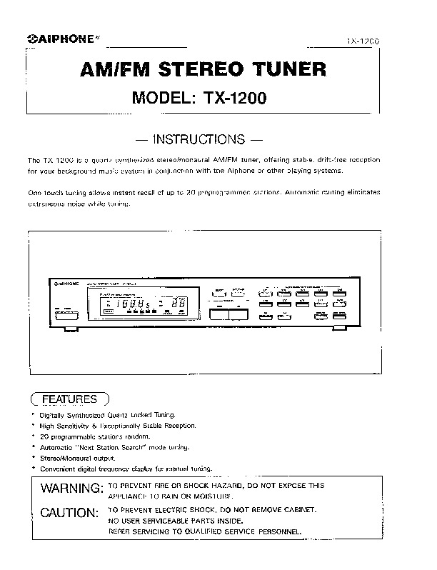 Aiphone TX-1200 Instructions.pdf