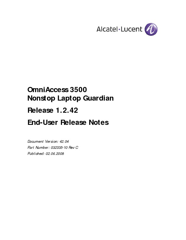 Alcatel End-User Release Notes - Release 1-2-42.pdf
