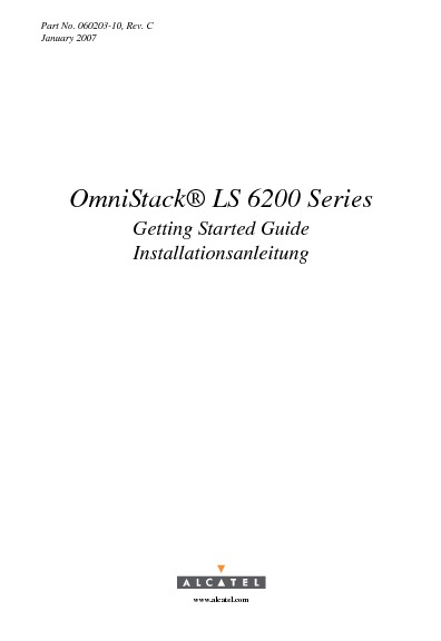 Alcatel OmniStack LS 6200 Getting Started Guide.pdf