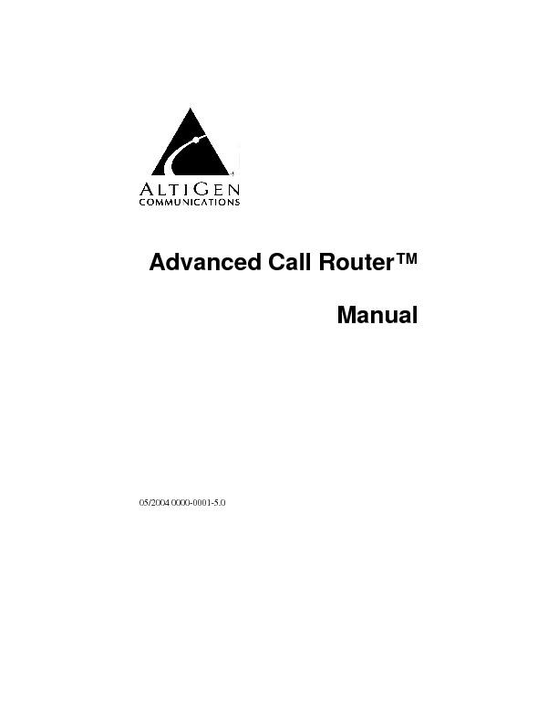 Altigen Advanced Call Router Manual.pdf