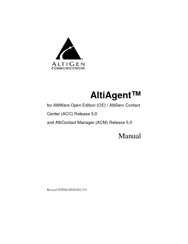 Altigen Aleen AltiAgent Manual.pdf