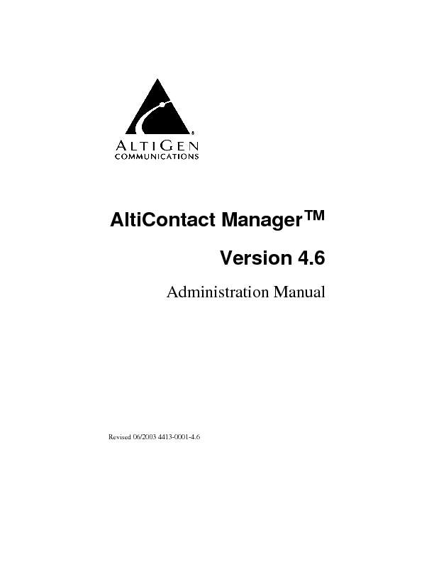 Altigen Aleen AltiContact Manager Administration Manual.pdf