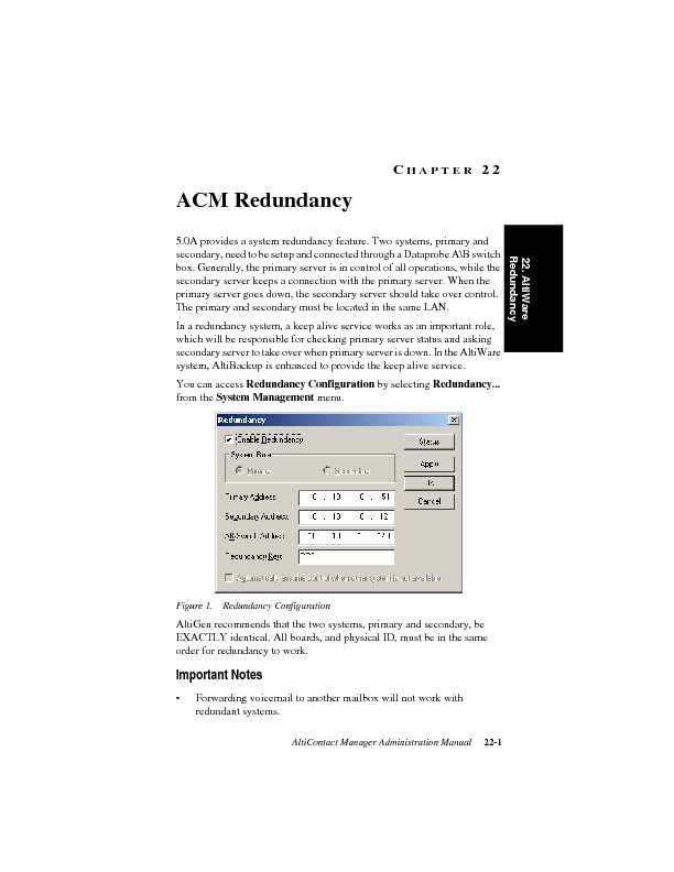 Altigen Aleen AltiContact Manager Redundancy Manual.pdf