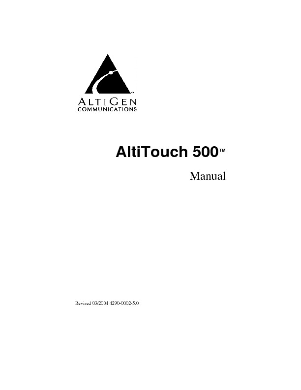 Altigen Aleen AltiTouch Manual.pdf
