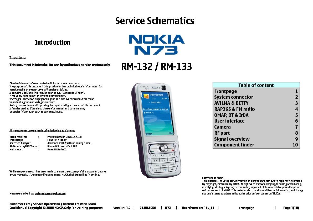 Nokia N73 Schematics Pdf Diagramas De Celulares