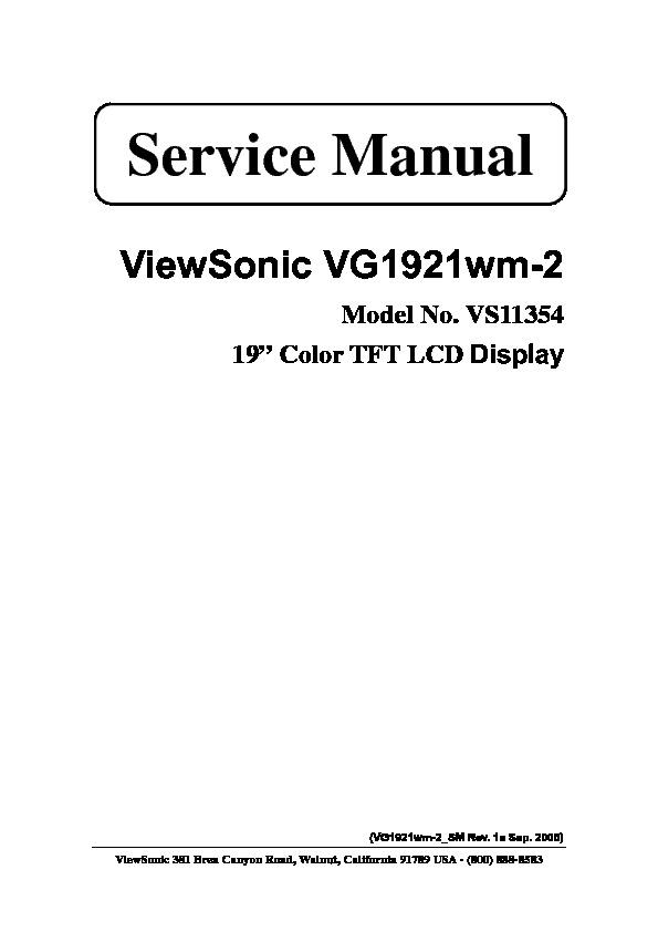 Service Manual Viewsonic VG1921.pdf