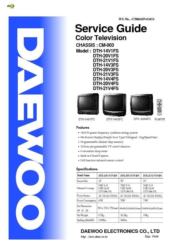 Daewoo Daewoo 14v1fs 1 14v1fs 20v1fs 14v3 20v3fs Ch Cm 003 Pdf Diagramas De Televisores Lcd Y Plasma Diagramasde Com Diagramas Electronicos Y Diagramas Electricos