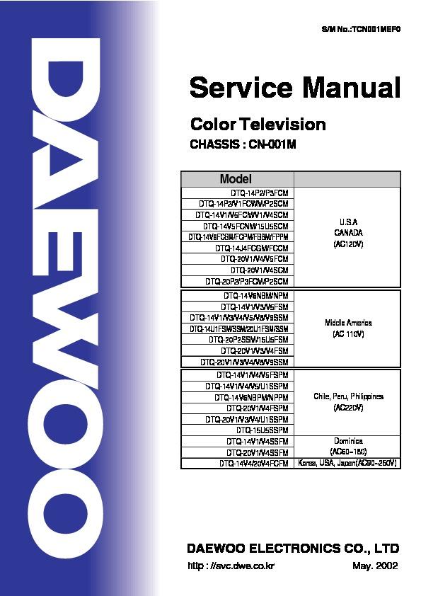 Daewoo 14P2 Chasis CN - 001M.pdf