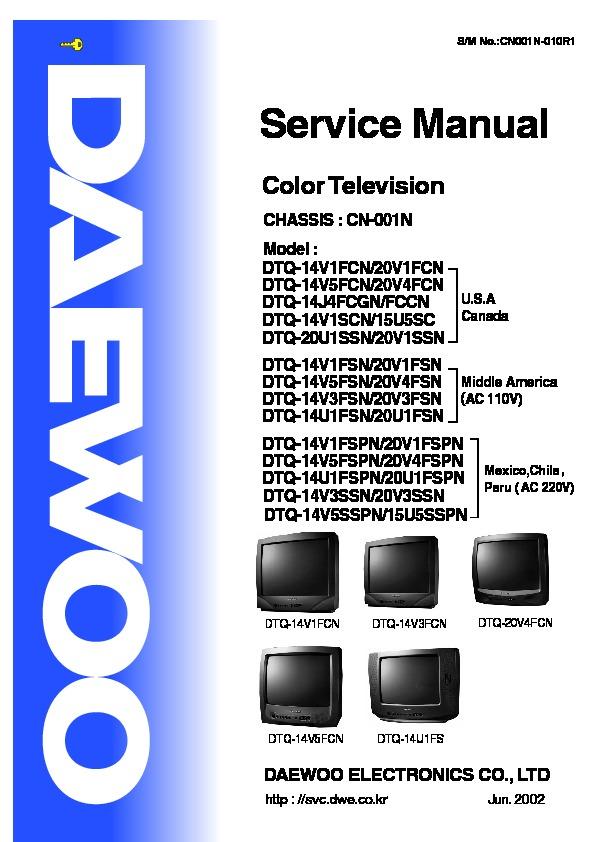 Daewoo Daewoo Dtq 14v1fcn Chasis Cn 001n Pdf Diagramas De
