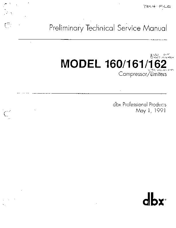 Dbx Dbx 160 161 162 Pdf Diagramas De Audio  U2013 Diagramasde