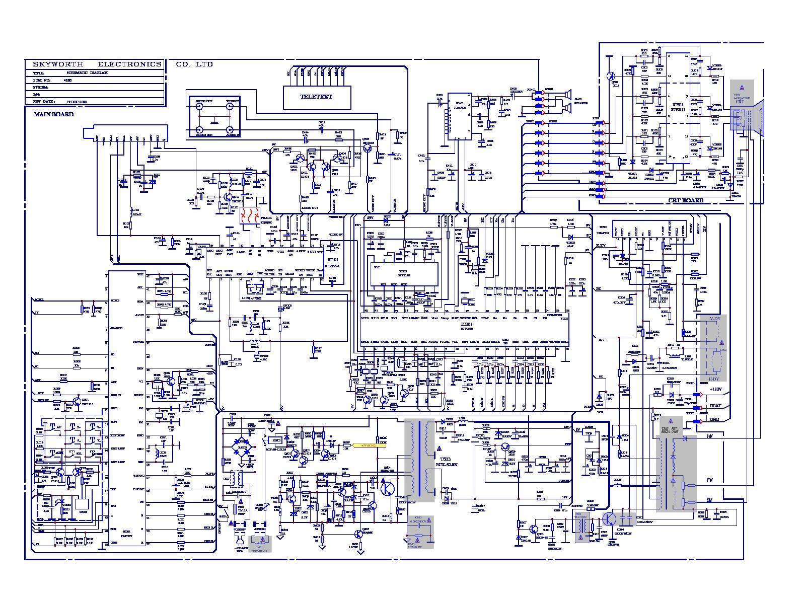 Emerson Etv 2029 4s30 Diagrama Tv Emerson Modelo Etv 2029