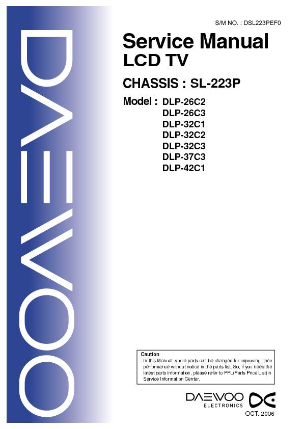 Daewoo Daewoo Dlp 37c3 Daewoo Dlp 37c3 Pdf Diagramas De