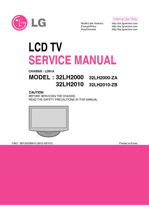 Lg Lg 32lh2000 Pdf Diagramas De Televisores Lcd Y Plasma  U2013 Diagramasde Com  U2013 Diagramas