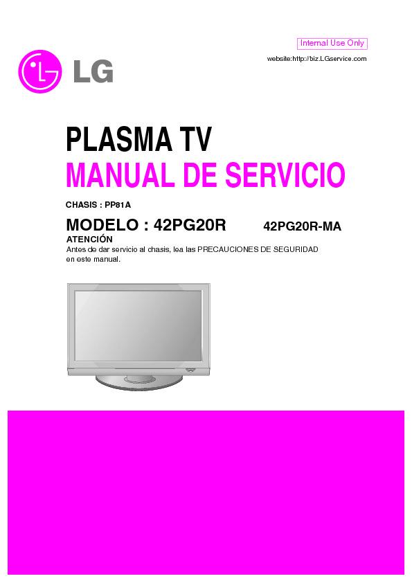 LG 42PG20R Chasis PP81A.pdf