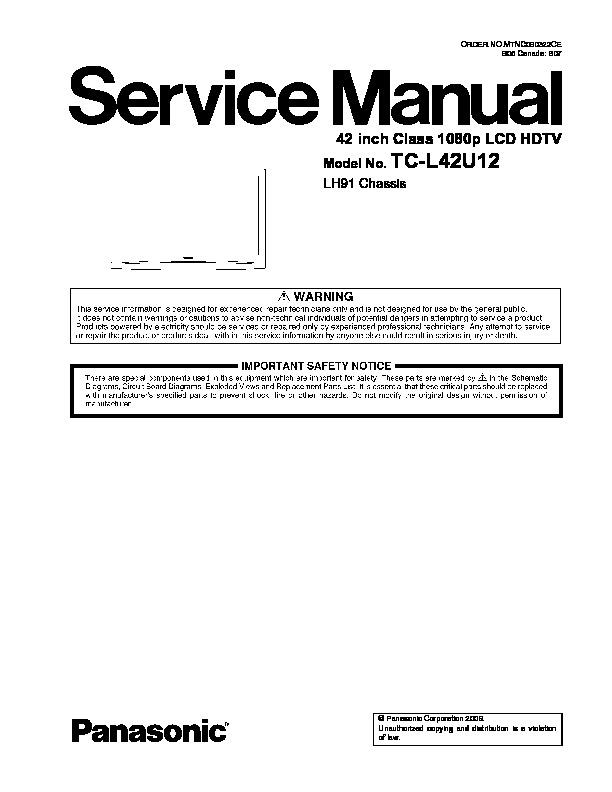 Panasonic TV LCD TC-L42U12 Chassis LH91.pdf