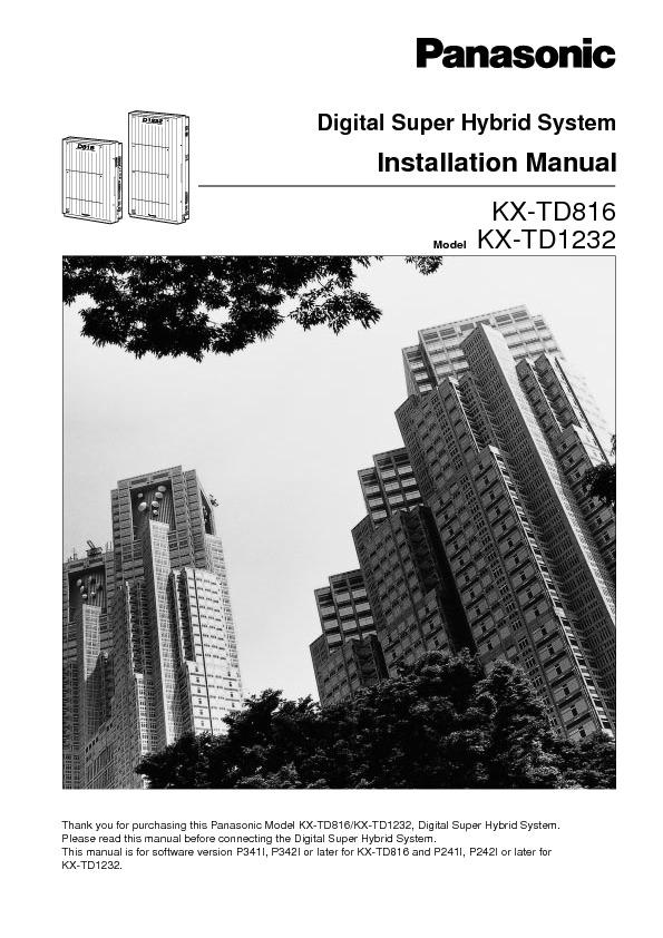 Panasonic KX-TD1232 Installation.pdf