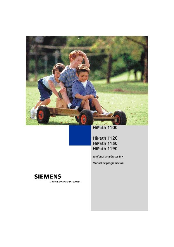 Siemens Siemens Hipath 1150 Programingmanual B804es Pdf