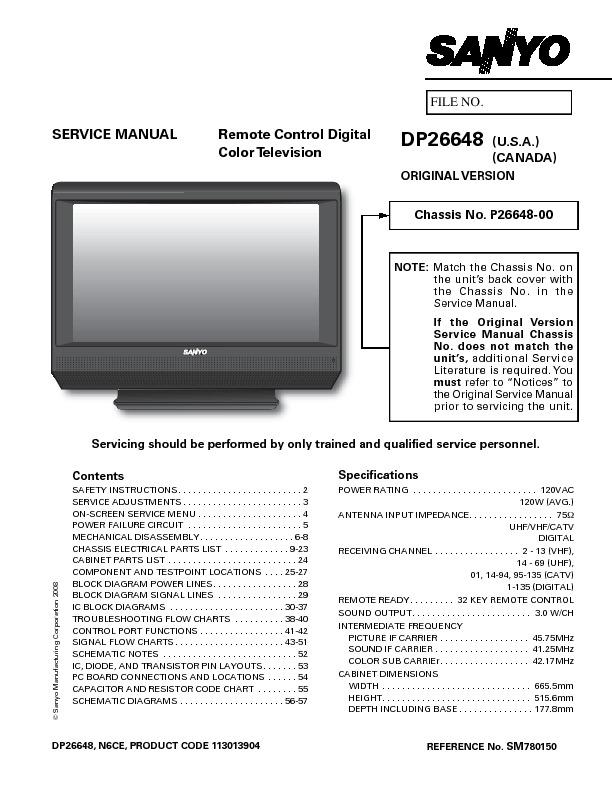 Sanyo DP26648 Chasis P26648 - 00.pdf
