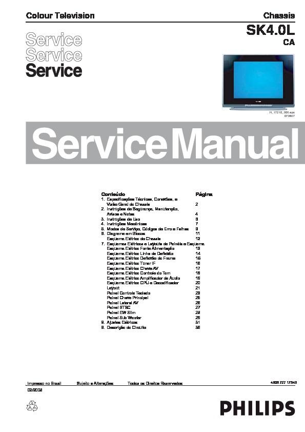PHILIPS       Philips    21PT9467    Chasis    SK4 0L CA pdf Diagramas de