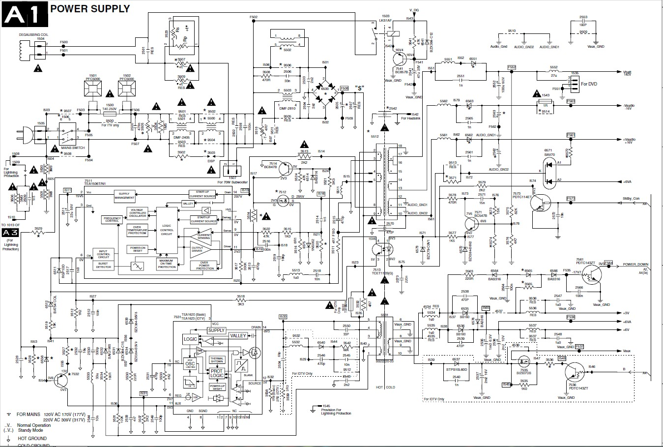 Philips Power Supply 29pt6447 Png Diagramas De Televisores