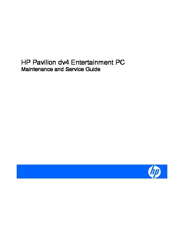 H P Hp Pavilion Dv4 Hp Pavilion Dv4 Pdf Diagramas De