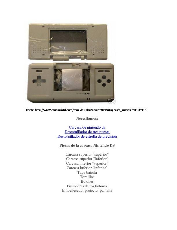 Cambio de carcasas Nitendo Ds Lite.pdf