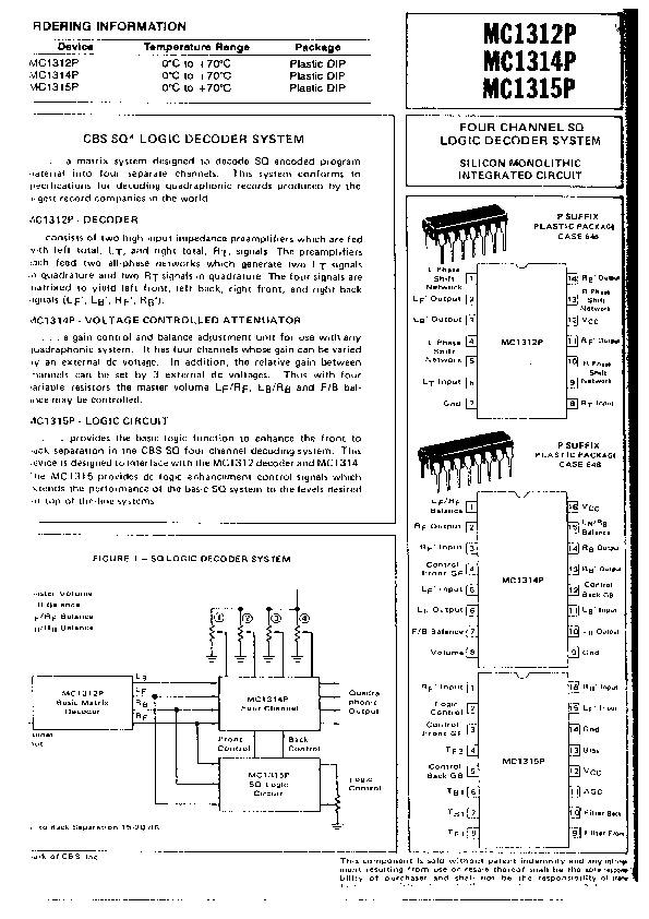 datasheet MC1312P.pdf