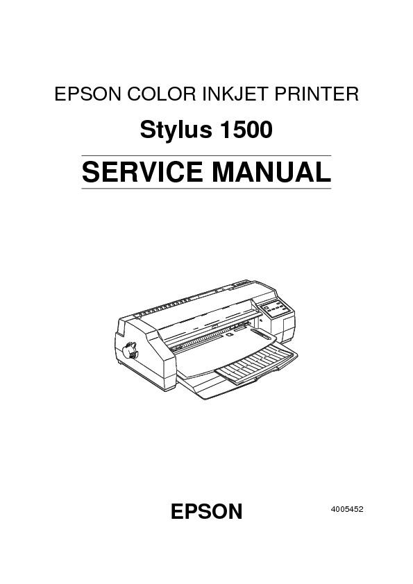 Epson Stylus 1500 Stylus 1500 Service Manual Pdf Diagramas