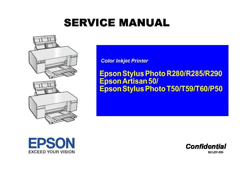 Epson T50 Service Manual Pdf Diagramas De Impresoras