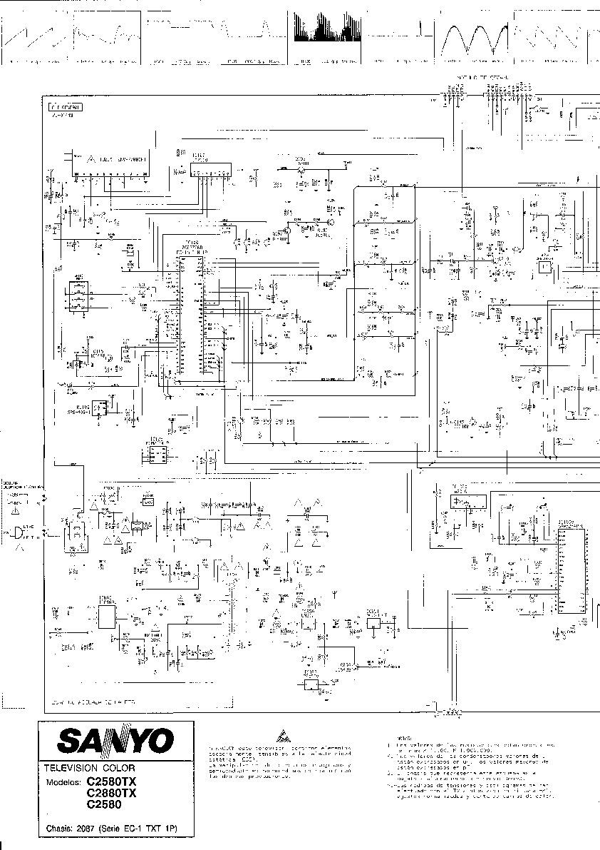 Sanyo Sanyo Sanyo Chasis 2070 C2580 Pdf Diagramas De