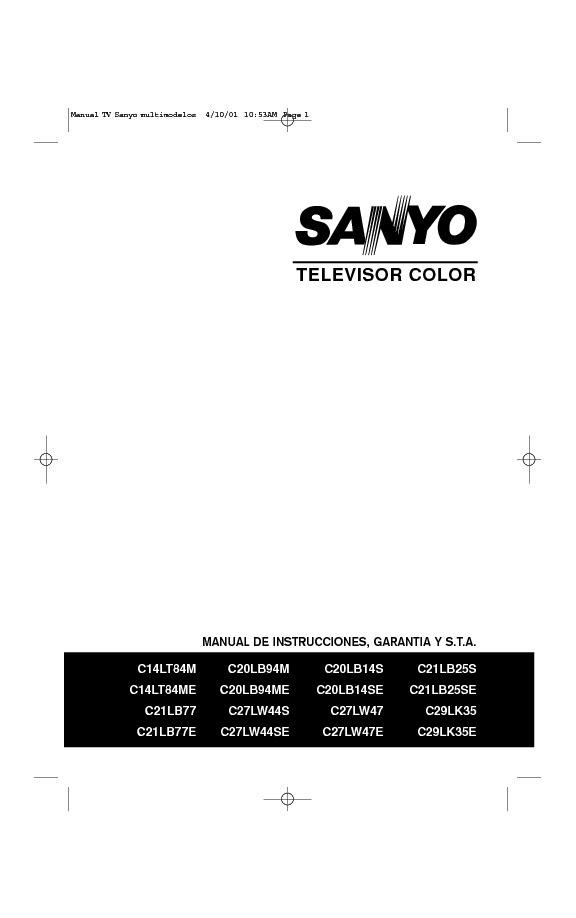 Sanyo chasis LA4-A - Manual de usuario .pdf