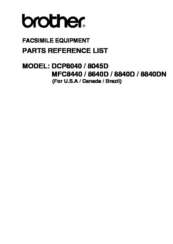 DCP8040 DCP8045D MFC8440 MFC8840D MFC8840DN Maual de Partes.pdf