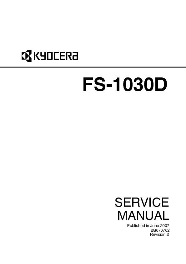Kyocera Mita Fs1030d Fs 1030d Service Manual Pdf Diagramas