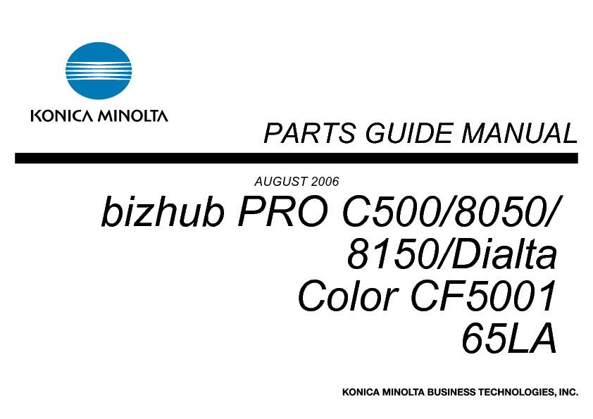 PartsbizhubPROC500_08_2006.pdf