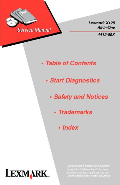 Lexmark X125 4412 - Service Manual.pdf
