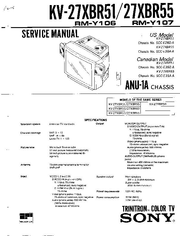 KV-27XBR51 KV-27XBR55.pdf