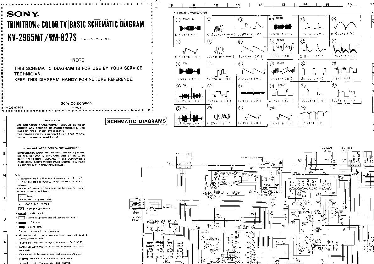 Sony Kv2965 Pdf Diagramas De Televisores Lcd Y Plasma