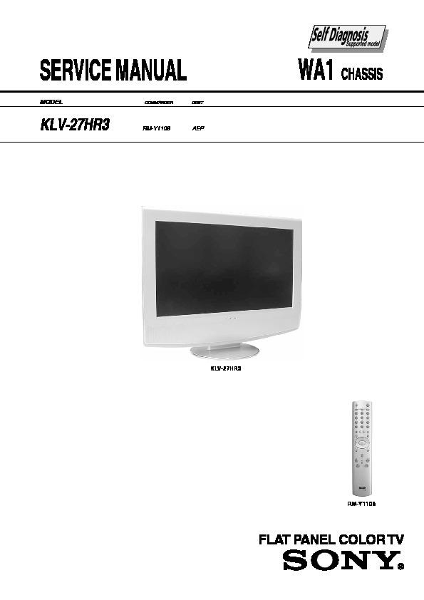 Sony Sony Klv 27hr3 Lcd Tv Circuito Pdf Diagramas De Televisores Lcd Y Plasma  U2013 Diagramasde Com