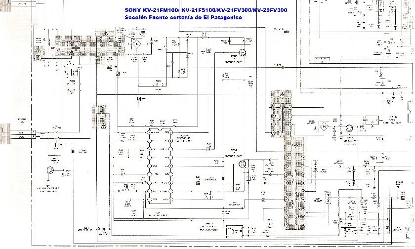 Sony Sony Kv 25fv300 Pdf Diagramas De Televisores Lcd Y