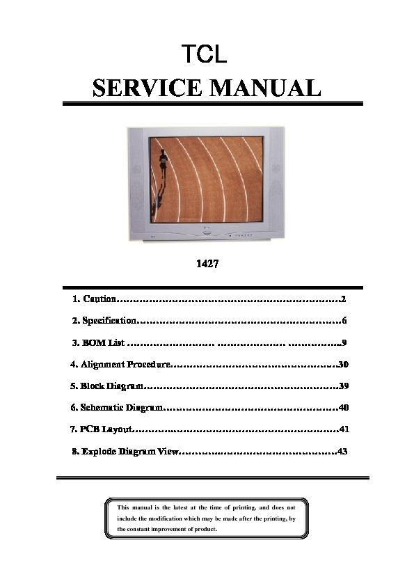 Tcl Tcl2127 Tcl 1427 Service Manual Pdf Diagramas De