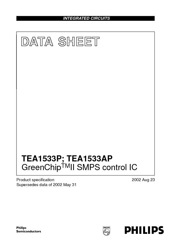 datasheet TEA1533AP.pdf