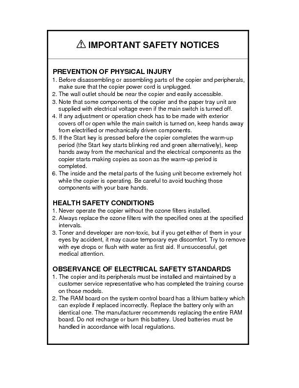 Ricoh Aficio 200 - Service Manual.pdf