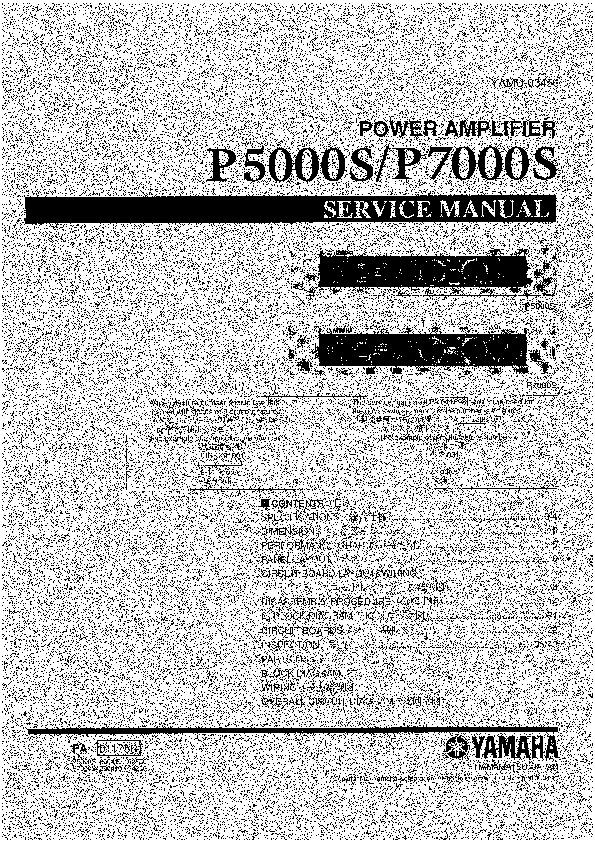 Yamaha Yamaha P5000s  P7000s Yamaha P5000s P7000s Pdf
