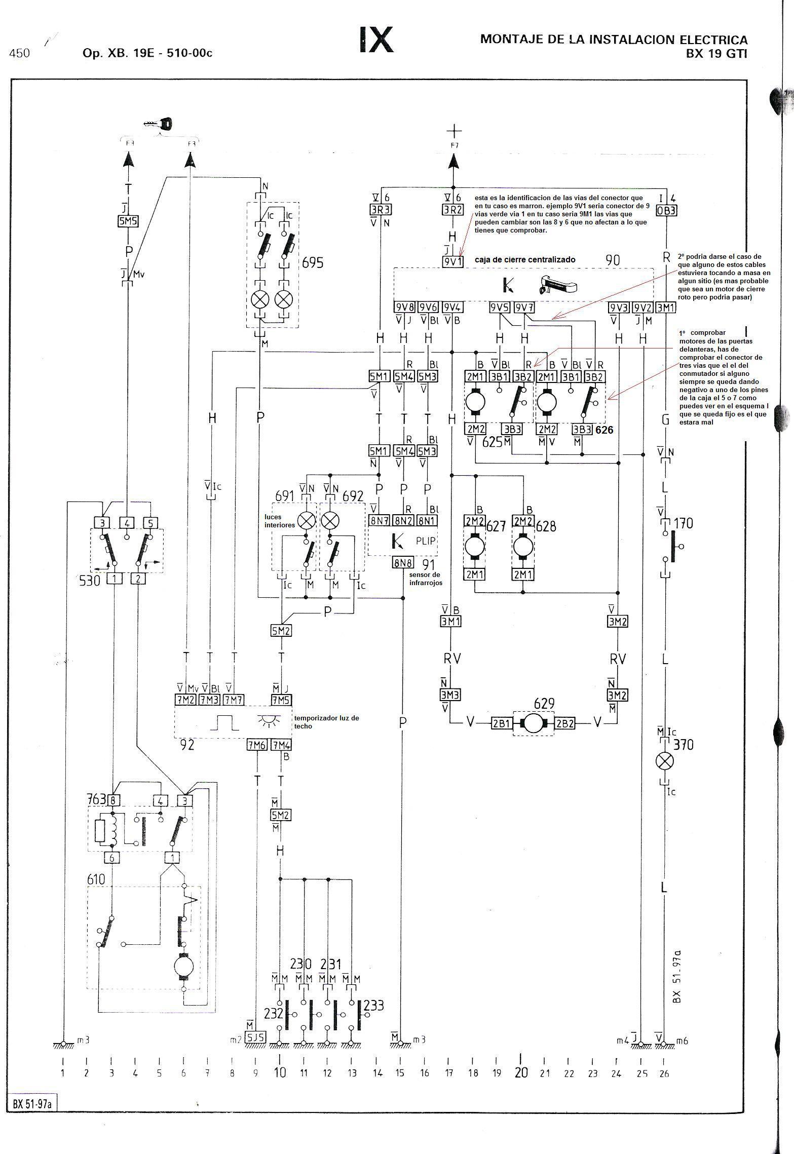 Autom U00f3viles Citroen Citroen Bx Cierre Centralizado A
