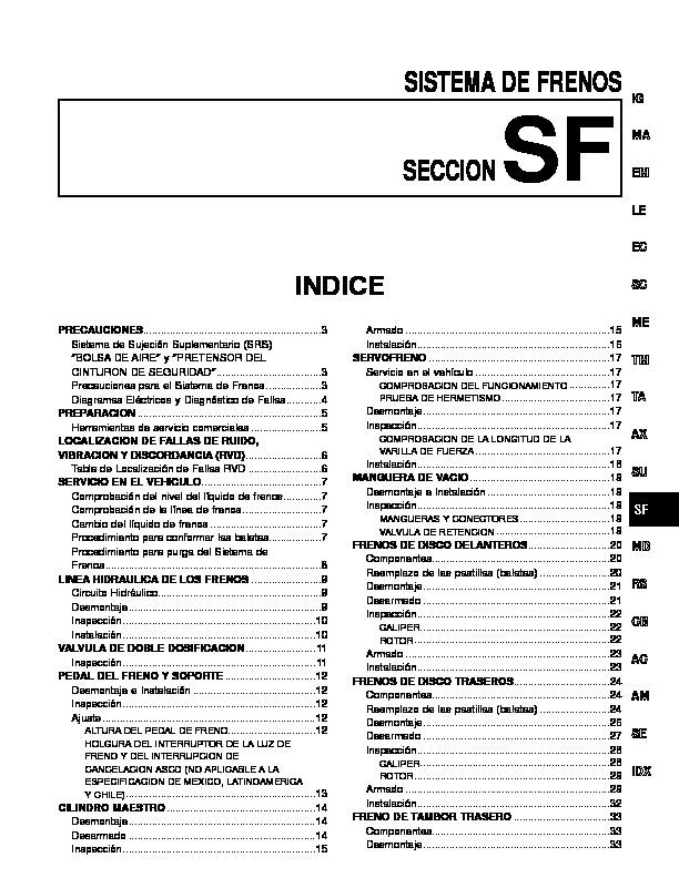 Nissan Frenos pdf Diagramas de autos     Diagramasde