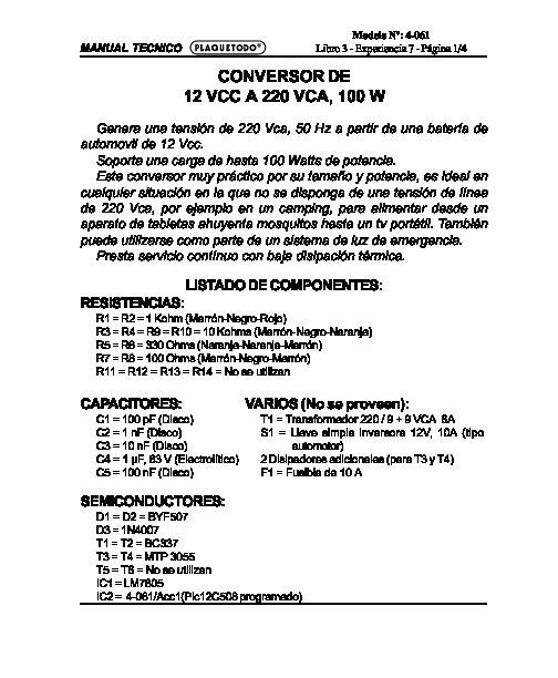 general conversor 100w pdf diagramas de cargadores  u2013 diagramasde com  u2013 diagramas electronicos y
